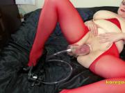 Kore Goddess extreme pussy and nipple pumping