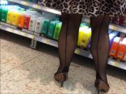 Black seamed stockings 1