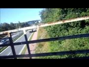 flashing traffic from a bridge