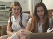 Three Schoolgirls. Ten, Mary Jane and Alicia.
