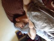coaxing hubby awake