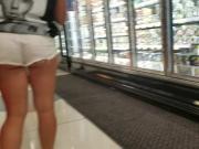 Teen white cheeky shorts