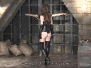 Japanese domina Kira is trampling slaves, hit with a whip