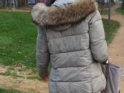 Nice down jacket candid street