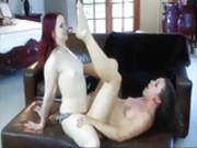 Beautiful Lesbians Claire Fucks Sinn Hard With Strap-on