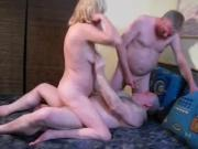Amateur - Homemade Uninhibited Bi MMF Threesome Male CIM