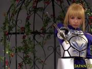 Cosplay saber fingered by fsn fan