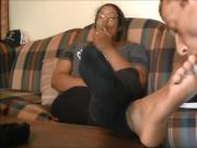 Foot Slave first time with Mistress