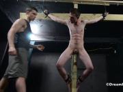Crucified Twink Fucks Himself With Dildo - BDSM Gay Bondage