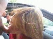 milf getting a facial cum in public
