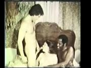 Vintage Trio Withe Girl Black Cock