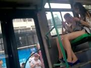 very nice legs on bus