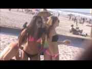 playful horny teens beach spy