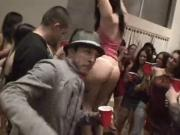 Incredible orgy at a party with students