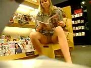 Teen Girlfriend Upskirt Panty Flash At Bookstore