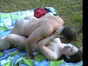 hot couple loves to fuck outdoors