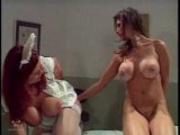 Busty Lesbian Enema