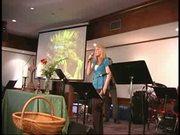 Megan singing in church