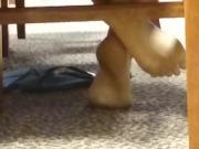 Candid Barefeet in Library 6