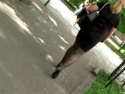 Mature Nyloned Legs on Street