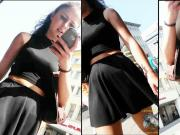 candi teen lady in black skirt