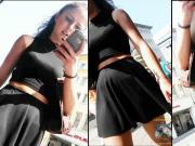 candi teen lady in black skirt