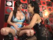 British sluts Michelle and Danica in another lesbian scene