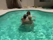 Poolboy gets to fuck two PAWGs