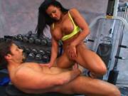 Bodybuilder MILF sex in gym