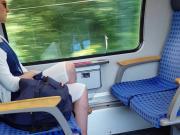 Milf feet in train