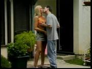 Gorgeous blonde gets a hard outdoor anal fuck from a big dick dude