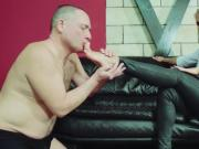Lady Kyra severe FemDom Licking, sucking slave foot