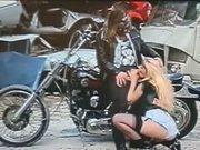 Classic French Bikergirl