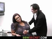 His wife leaves and he fucks ebony bbw