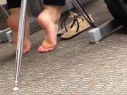 Candid College Cheerleader Feet in Class 3