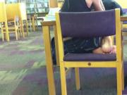 Candid persian Library Feet