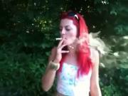Smoking Fetish-Hot Redhead speed smoking!