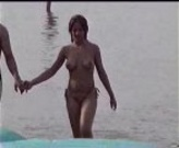Beach girl topless - video