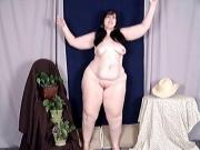 chubby brunette strip