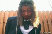 Japanese coed pissing herself and getting screwed