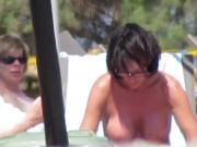 Topless babe in Agia Marina, creta 6