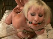 Cherry Torn ball gagged, tied up and fucked like a whore