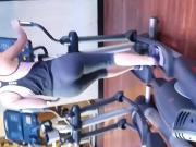 Spandex gym ass