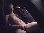 Home video. Wife totally naked masturbating in car