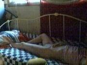 girlfriend laying in panties