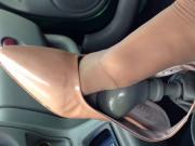 Beautiful nylon foot on gear shift