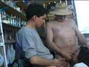 Husband Catches wife blowing young guy