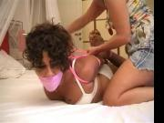 Lorna humilliated and hogtied by her friend