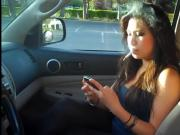 woman smoking in car 2