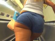 Big Ass Tiny Shorts Close up Voyeur